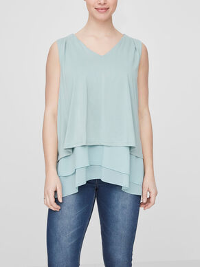 MIX NURSING TOP, SLEEVELESS