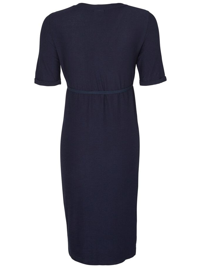 JERSEY MATERNITY DRESS, Navy Blazer, large