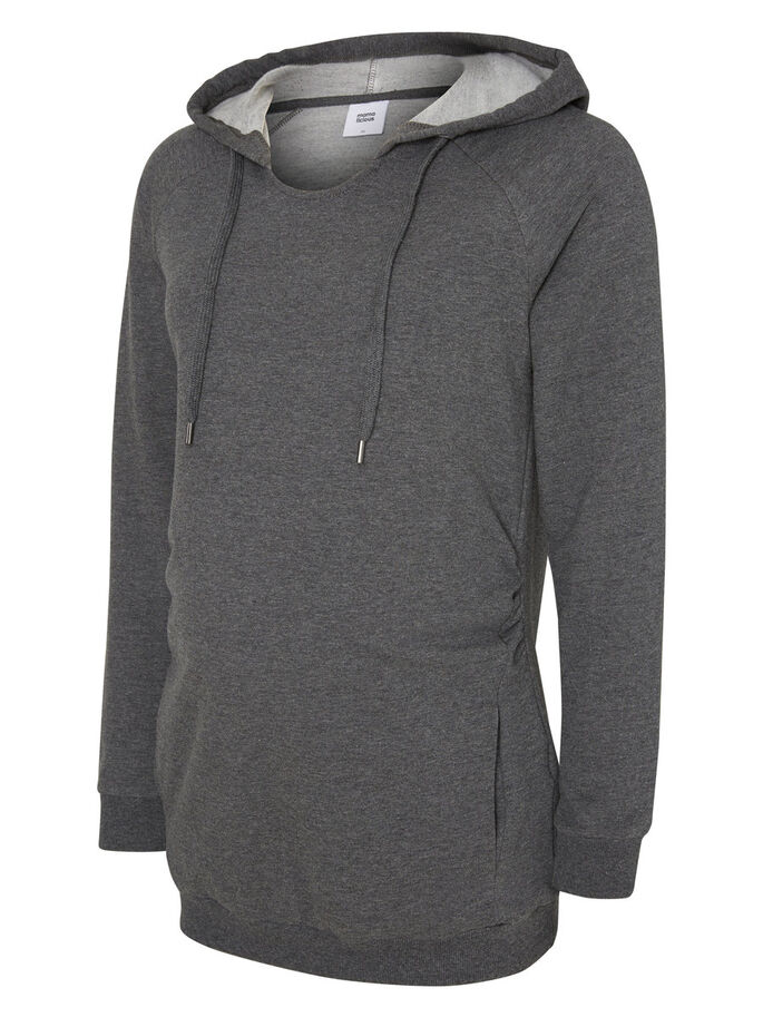 SWEAT ZWANGERSCHAPSTOP, Medium Grey Melange, large