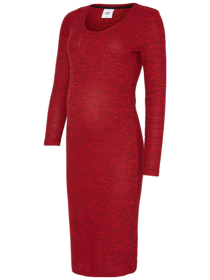 KNITTED MATERNITY DRESS, Rio Red, large