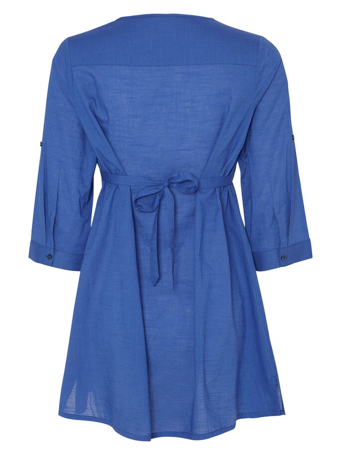 WOVEN MATERNITY TUNIC, Deep Ultramarine, large