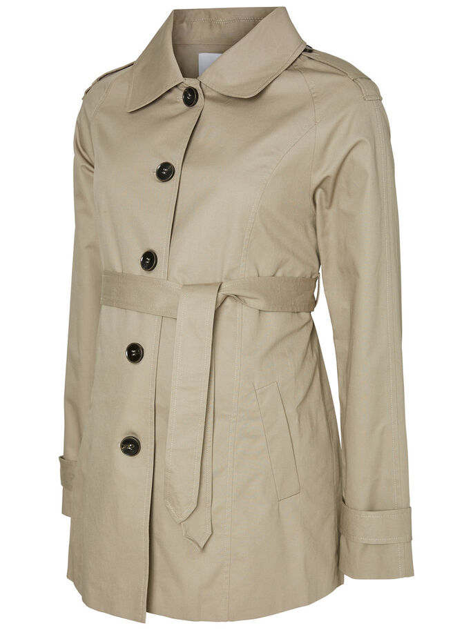 SPRING TRENCH MATERNITY JACKET, Moon Rock, large