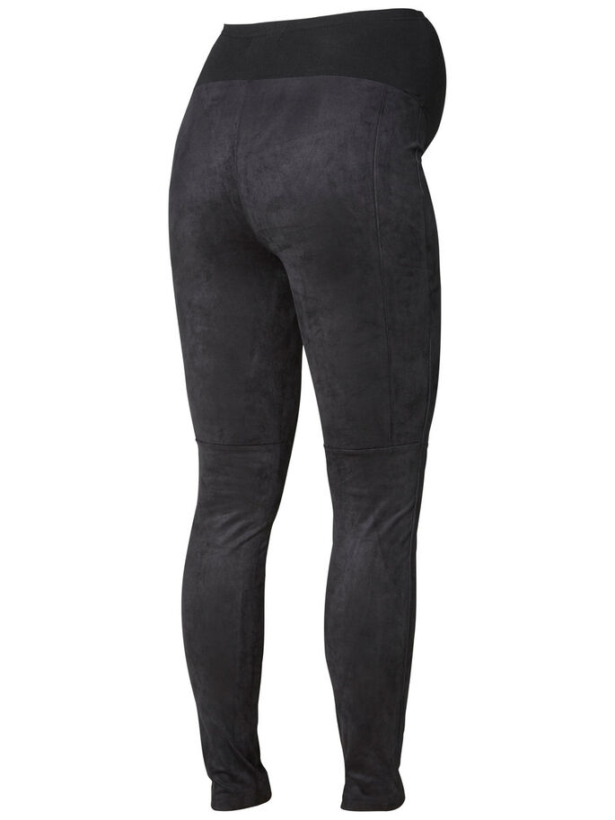 COTON LEGGINGS GROSSESSE, Black, large