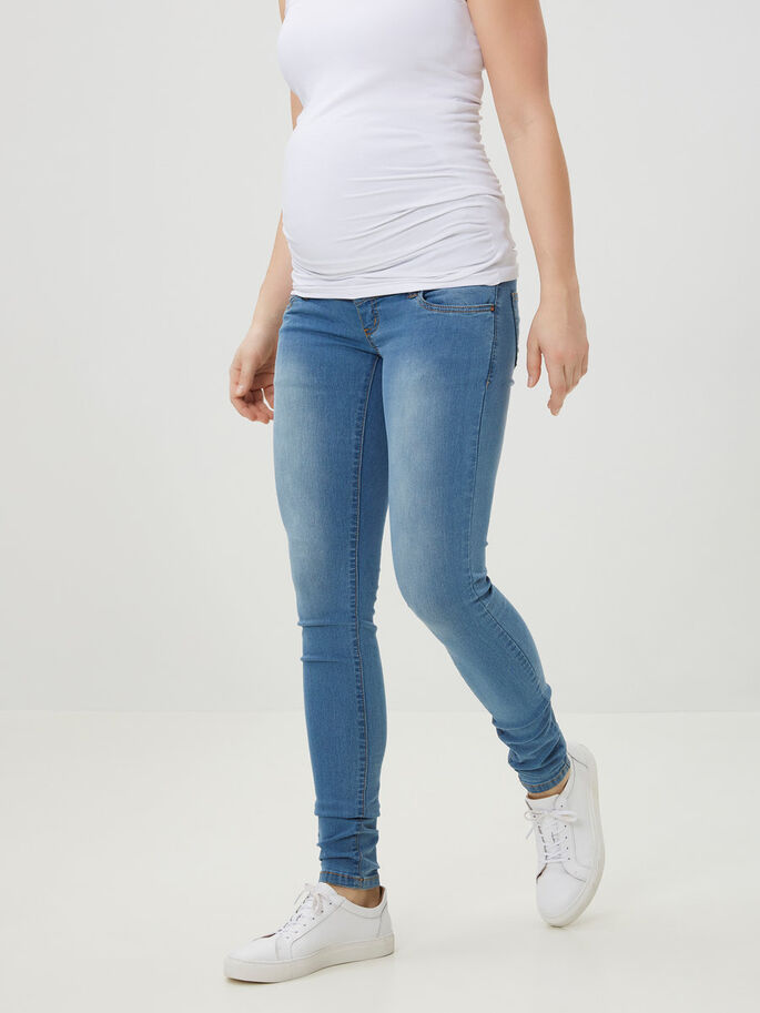 IDA MATERNITY JEANS, Light Blue Denim, large
