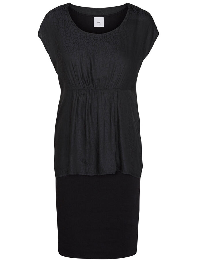MIX NURSING DRESS, Black, large