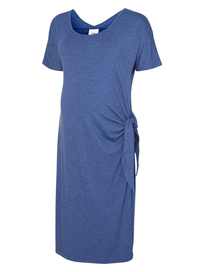 JERSEY MATERNITY DRESS, Twilight Blue, large