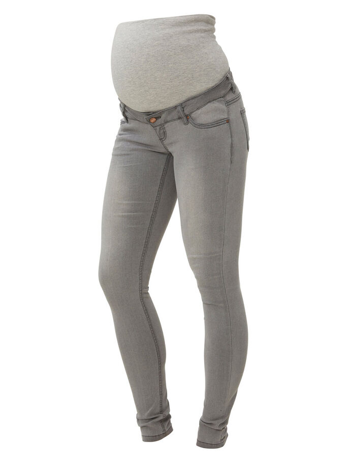 SKINNY MATERNITY JEANS, Light Grey Denim, large