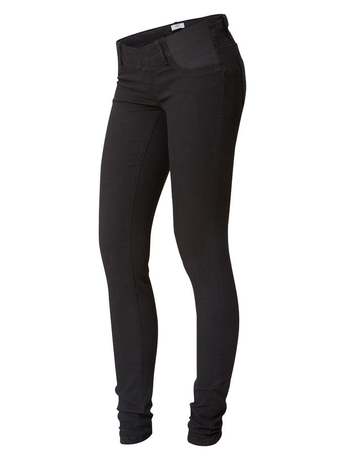 SKINNY ZWANGERSCHAPSJEANS, Black Denim, large
