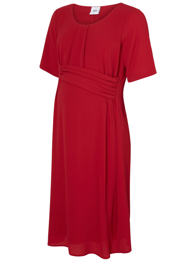 WOVEN MATERNITY DRESS, Rio Red, large