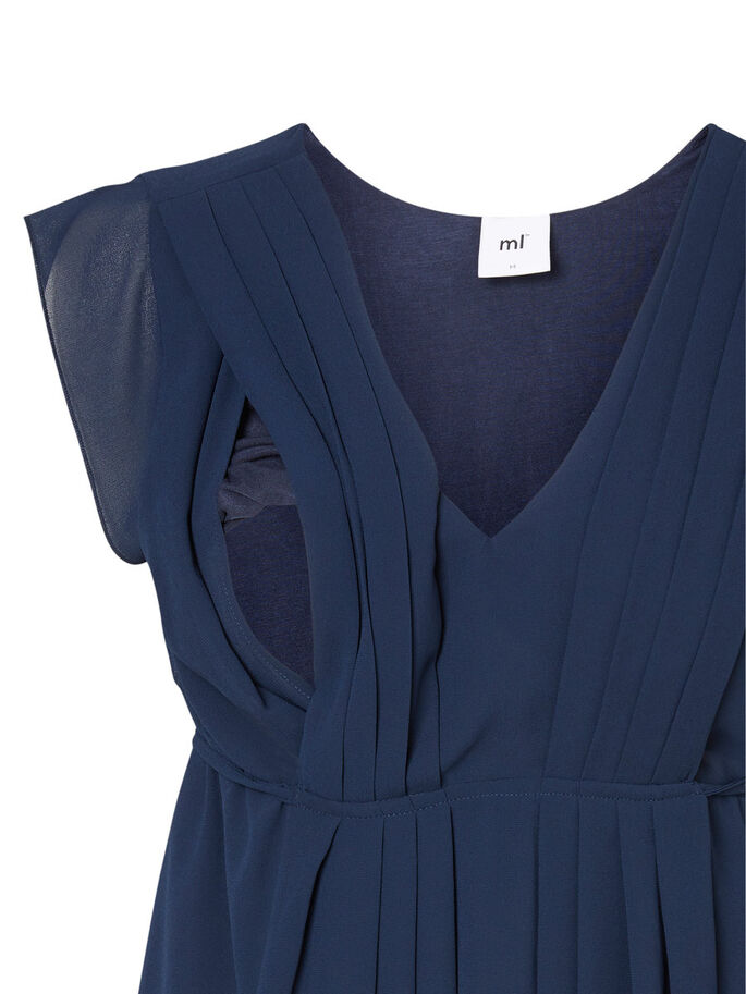WOVEN NURSING DRESS, Navy Blazer, large