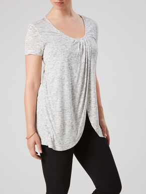 JERSEY NURSING TOP, SHORT SLEEVED