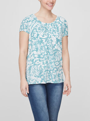 WOVEN NURSING TOP, SHORT SLEEVED