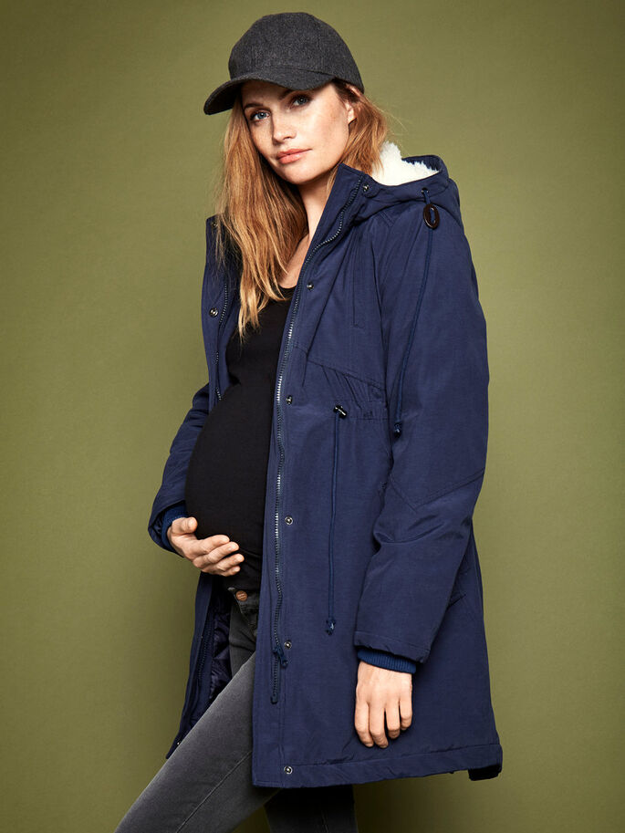 DUFFEL MATERNITY COAT, Navy Blazer, large