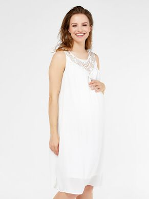 EMBROIDERY DETAILED MATERNITY DRESS