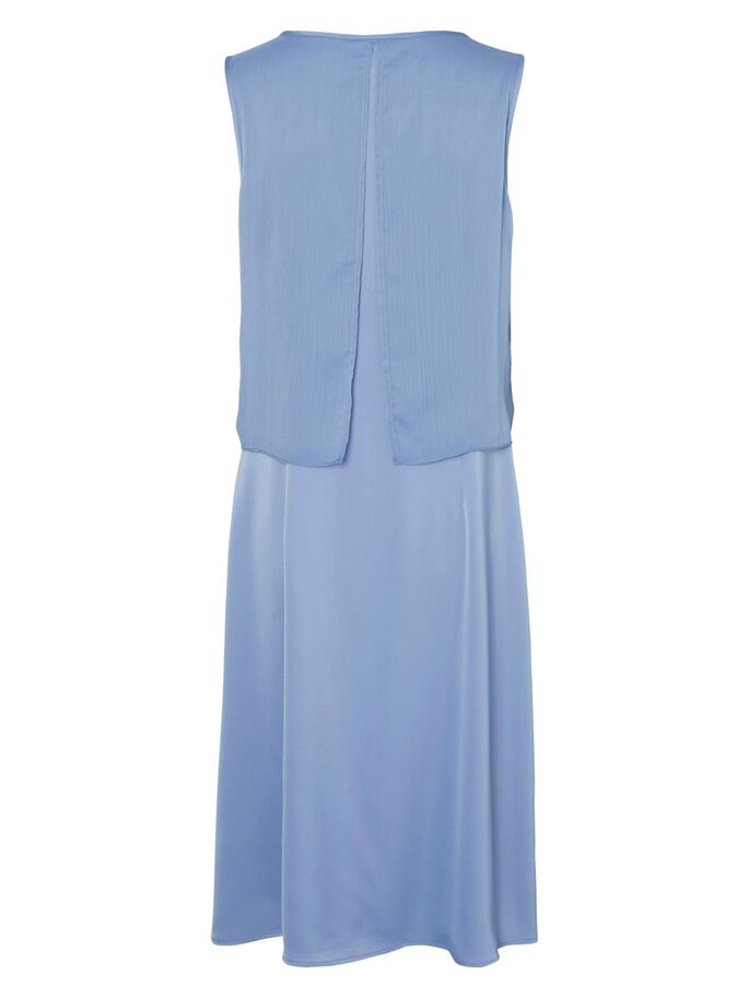 WOVEN NURSING DRESS, Colony Blue, large