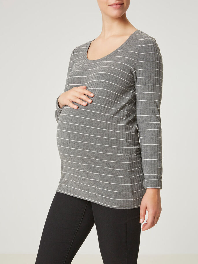 JERSEY ZWANGERSCHAPSTOP, Medium Grey Melange, large