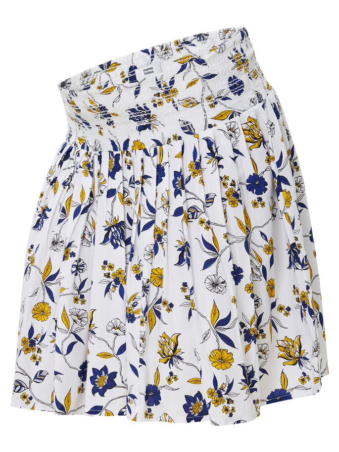 WOVEN MATERNITY SKIRT, SHORT, Snow White, large
