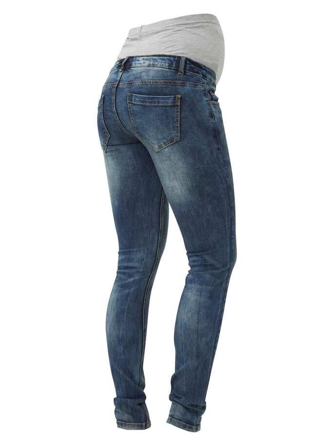 TROPEZ MATERNITY JEANS, SLIM FIT, Medium Blue Denim, large