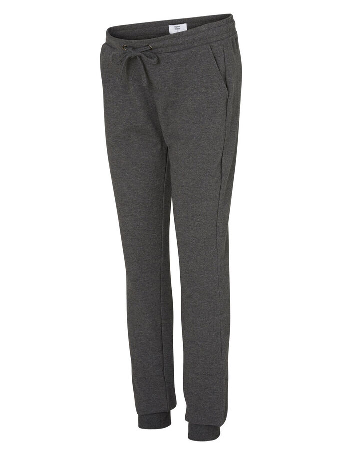 SWEAT MATERNITY PANTS, Medium Grey Melange, large
