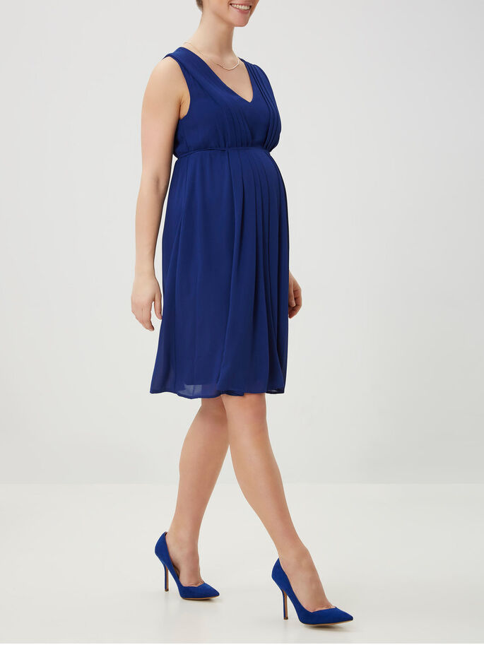 WOVEN MATERNITY DRESS, Twilight Blue, large