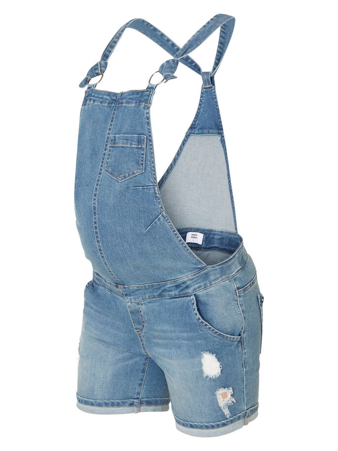 DENIM DUNGAREES, Medium Blue Denim, large