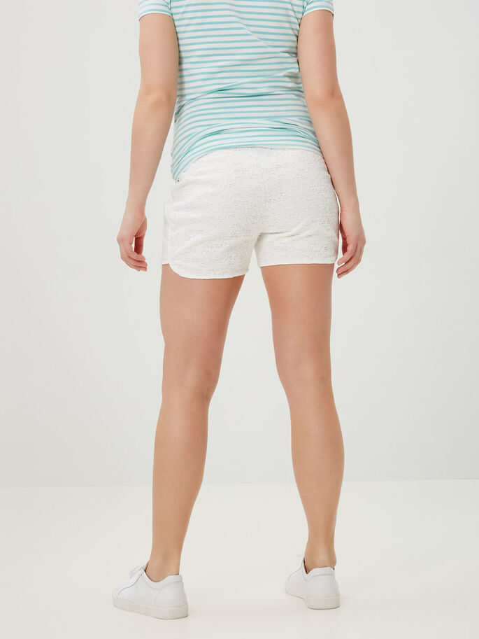 JERSEY MATERNITY SHORTS, Snow White, large