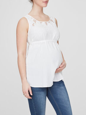 EMBRODERY DETAILED MATERNITY TOP