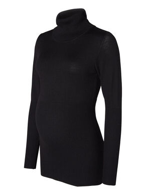 ROLLNECK MATERNITY TOP, LONG SLEEVED