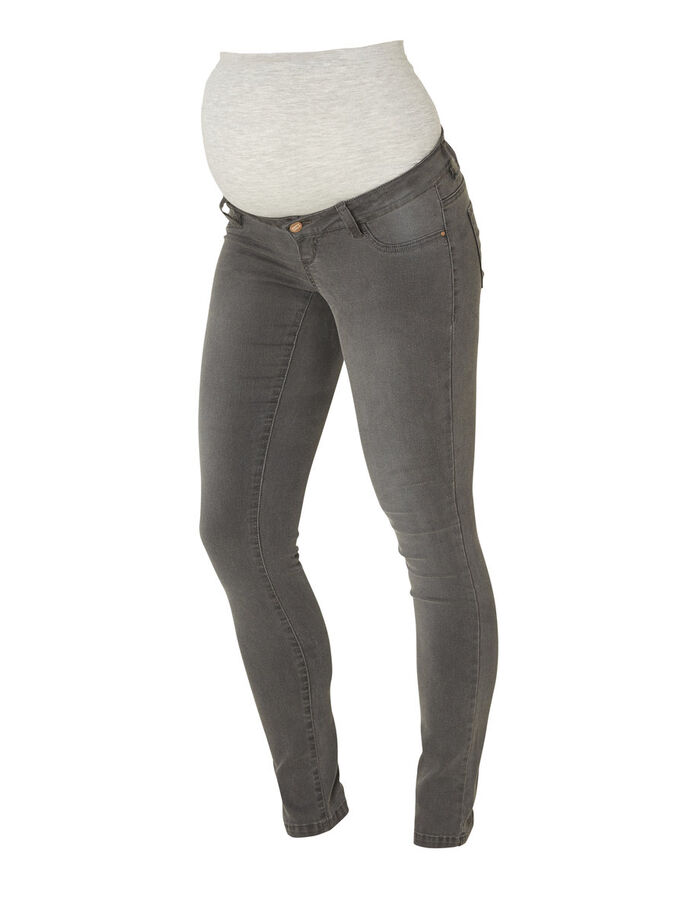 SKINNY FIT ZWANGERSCHAPSJEANS, Grey Denim, large