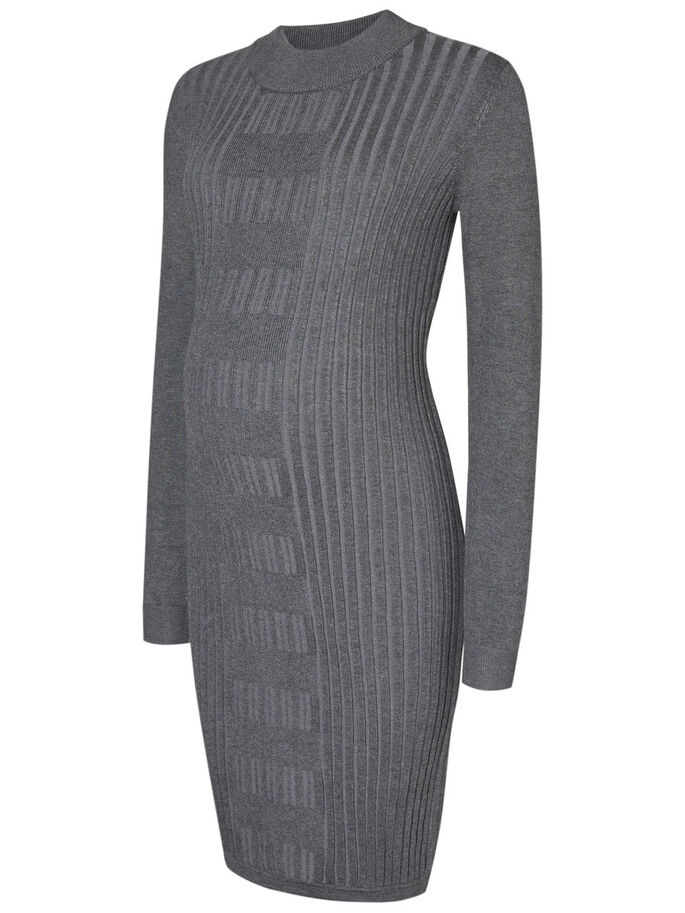 STRIKKET VENTEKJOLE, Medium Grey Melange, large