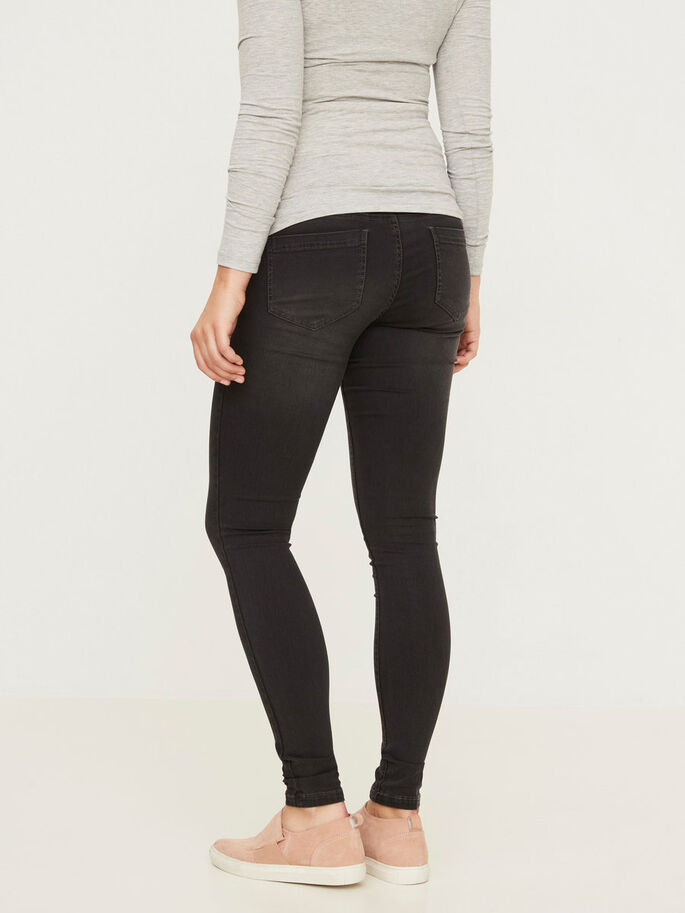 SKINNY- UMSTANDSJEGGINGS, Dark Grey Denim, large