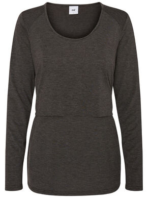 JERSEY NURSING TOP, LONG SLEEVED