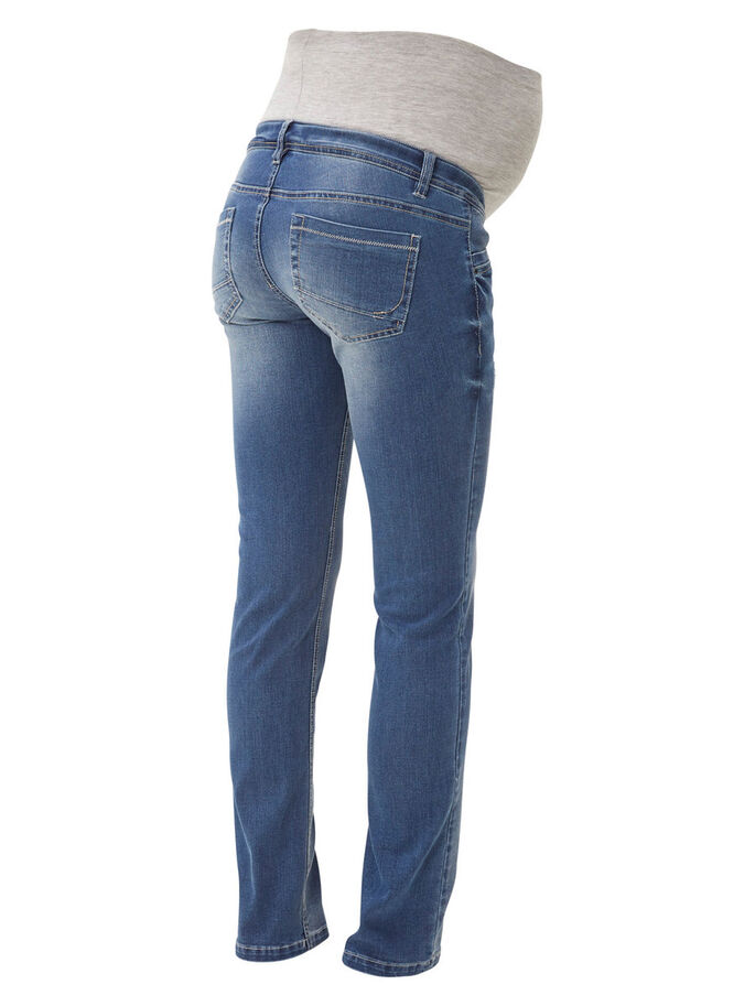 SLIM MATERNITY JEANS, Medium Blue Denim, large