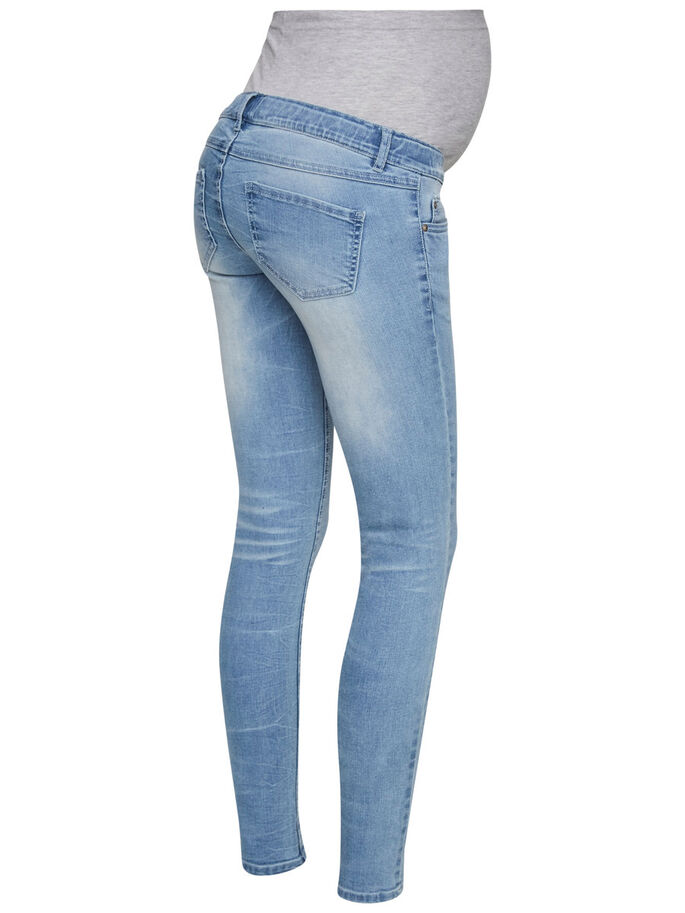 MLCLARA MATERNITY JEANS, SLIM FIT, Light Blue Denim, large