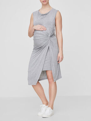 KNOT DETAILED MATERNITY DRESS