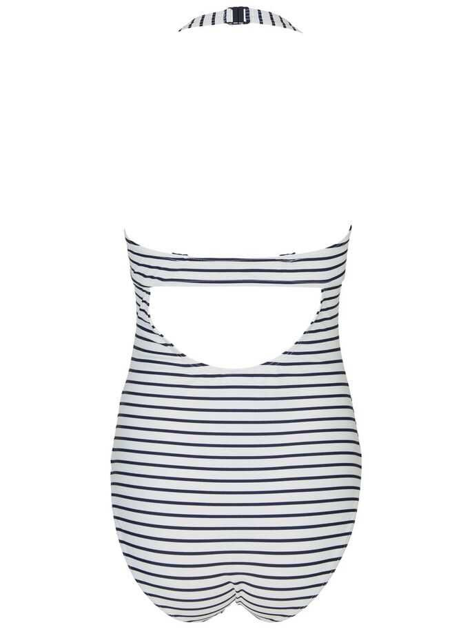 STRIPED MATERNITY SWIMSUIT, Snow White, large