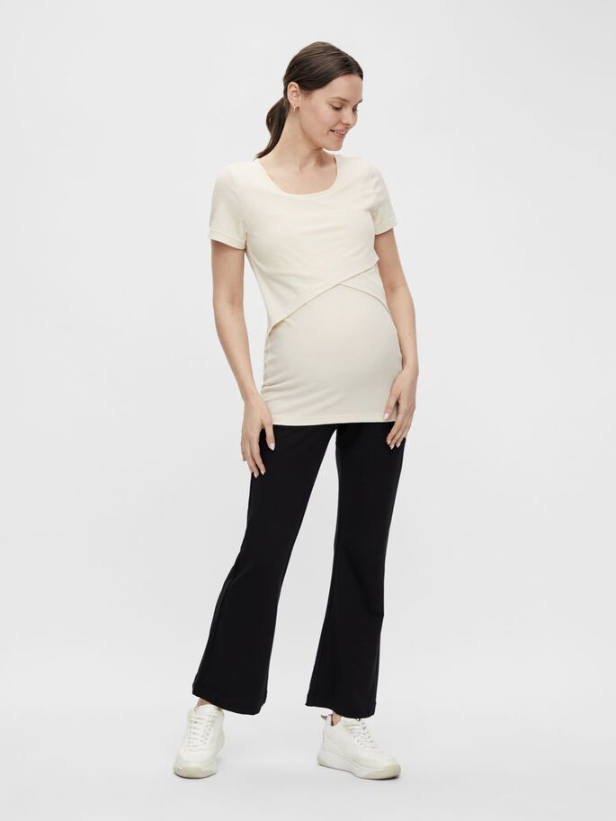 JERSEY 2-IN-1 MATERNITY TOP, Whitecap Gray, large