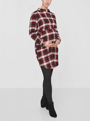 CHECKED MATERNITY DRESS