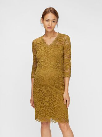 3/4 SLEEVED LACE MATERNITY DRESS