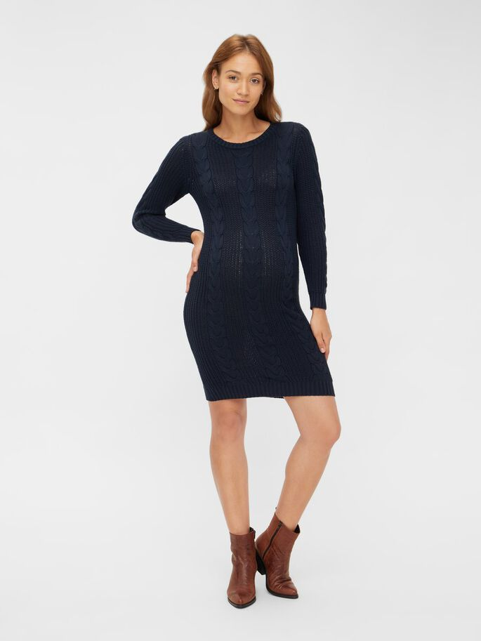 KNITTED MATERNITY DRESS, Carbon, large