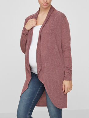 OPEN KNIT MATERNITY CARDIGAN