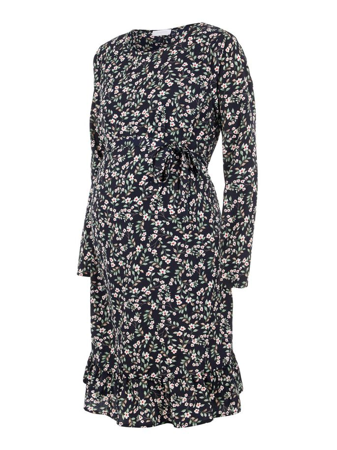MANCHES LONGUES, FLEURIE ROBE GROSSESSE, Navy Blazer, large