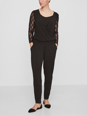 LACE JUMPSUIT NURSING JUMPSUIT