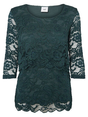 LACE NURSING BLOUSE, 3/4 SLEEVED