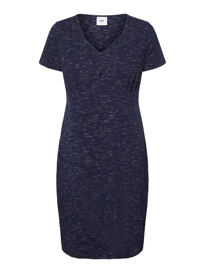JERSEY T-SHIRT 2-IN-1 MATERNITY DRESS, Peacoat, large