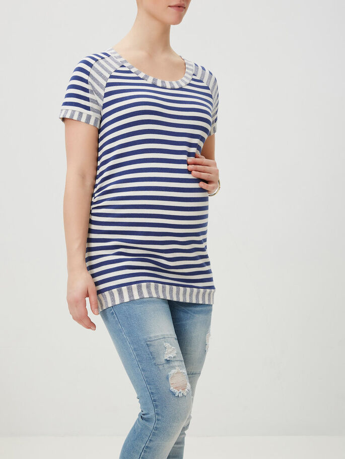 SWEAT MATERNITY TOP, Twilight Blue, large