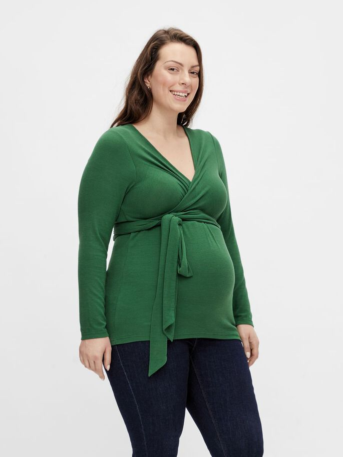 MLGISELLE CURVE 2-IN-1 MATERNITY TOP, Eden, large