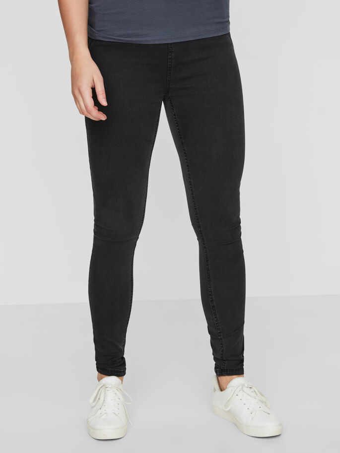 AFTERBIRTH SKINNY JEANS, Dark Grey Denim, large