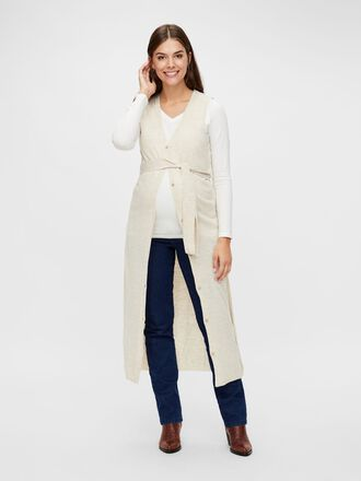 SLEEVELESS KNITTED MATERNITY CARDIGAN