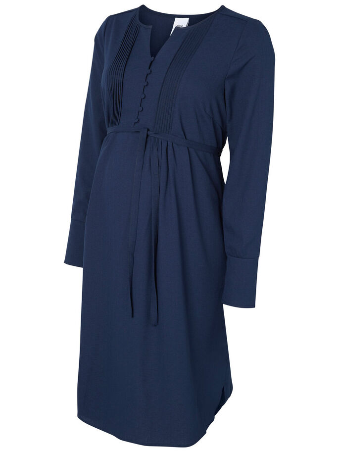 WOVEN MATERNITY DRESS, Navy Blazer, large